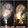 写真: デジカメ(WX300)とiPhone 4Sでの花火写真比較 - 2
