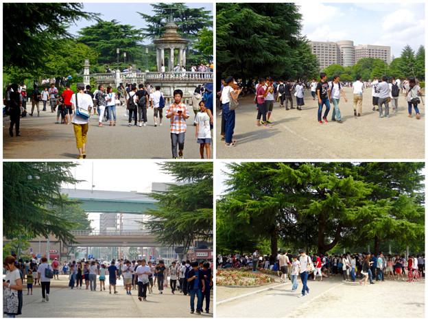 「ポケモンGo」をやりに来た人たちでごった返す鶴舞公園 - 65