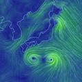 写真: くっつきそうな程の近くを通る、台風9号と10号 - 4