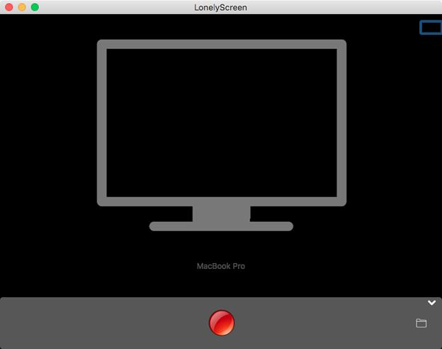 MacでiPhone画面のAirPlayができるアプリ「LonelyScreen」- 2(起動画面、未接続)