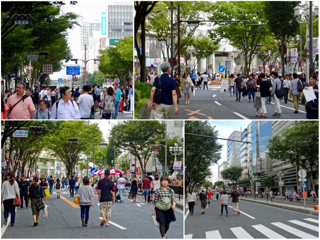 大勢の人で賑わう、南大津通歩行者天国(2016年9月25日) - 10