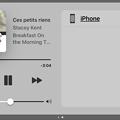Photos: iOS 10 コントロールセンター:横向き - 3(音声操作、音楽再生時)