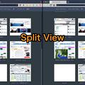 写真: Vivaldi 1.5.626.8:macOS SIerraフルスクリーンモード問題、システム環境設定のDockの設定を変更したら問題解消!? - 6(Split Viewも問題なし!)