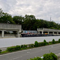 写真: 桃花台線の中央道上高架撤去工事(2016年10月11日) - 1:県道側の車両出入り口