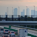写真: 中央道上に架かる陸橋越しに見えた、名駅ビル群 - 2