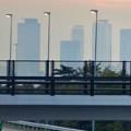 写真: 中央道上に架かる陸橋越しに見えた、名駅ビル群 - 4