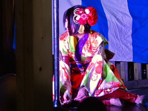 大須大道町人祭 2016 No - 77:ポールダンサー「鷹島姫乃」さんのパフォーマンス(準備中)