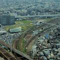 写真: ミッドランドスクエア「スカイプロムナード」から見下ろした「ささしまライブ24」(2012年9月9日撮影)