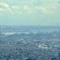 ミッドランドスクエア「スカイプロムナード」から見た名古屋港(2012年9月9日撮影)