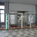 写真: 今日からリニューアルオープンした新・JR春日井駅 - 15:閉鎖されてた工事用の仮設階段?