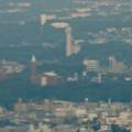 ミッドランドスクエア「スカイプロムナード」から見た景色(夕方) - 41:スカイワードあさひ と金城学院大学のアニー・ランドルフ記念講堂