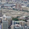写真: ミッドランドスクエア「スカイプロムナード」から見た景色(夕方) - 70:ノリタケの森の隣りに大きな空き地!?