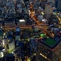 写真: ミッドランドスクエア「スカイプロムナード」から見た夜景 - 4:名古屋高速 錦橋出入り口