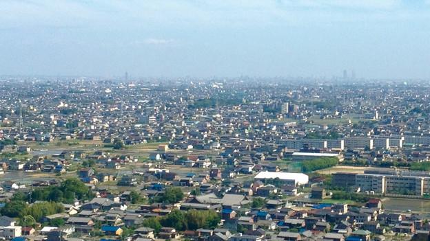 ツインアーチ138展望階から見た景色(2012年6月撮影)- 1:名古屋方面