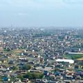 写真: ツインアーチ138展望階から見た景色(2012年6月撮影)- 1:名古屋方面