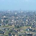 写真: ツインアーチ138展望階から見た景色(2012年6月撮影)- 2:ナゴヤドームとザ・シーン城北