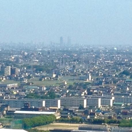 写真: ツインアーチ138展望階から見た景色(2012年6月撮影)- 5:名駅ビル群