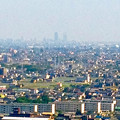 写真: ツインアーチ138展望階から見た景色(2012年6月撮影)- 6:名駅ビル群