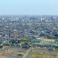 写真: ツインアーチ138展望階から見た三菱電機稲沢製作所のエレベーター試験塔(2012年6月撮影) - 2