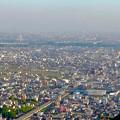 岐阜公園:展望レストランの展望台から見た景色 - 1(一宮~名駅方面)