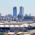 写真: 清洲城から見た名駅ビル群(2012年4月撮影) - 5