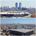写真: 清洲城から見た名駅ビル群(2012年4月撮影) - 6