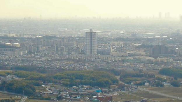 白山神社から見たスカイステージ33(2009年3月撮影) - 1