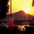 伊木山の向こうに沈む夕日 - 3