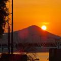 伊木山の向こうに沈む夕日 - 4
