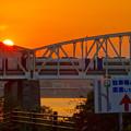 伊木山の向こうに沈む夕日 - 6