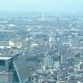 ミッドランドスクエア「スカイプロムナード」から見た景色:ルーセントタワー越しに見た三菱電機稲沢製作所のエレベーター試験塔(2012年9月) - 2