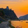 Photos: 夕焼けに染まる犬山城 - 8