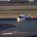 写真: 県営名古屋空港に着陸するヘリコプター - 2