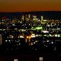 アピタ高蔵寺店屋上から見た景色(夕暮れ時) - 28:名古屋方面