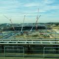 写真: リニモ車内から見えた建設途中の「IKEA長久手」 - 1