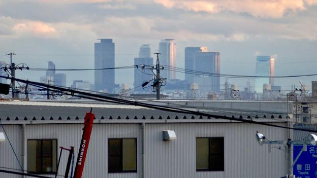 市営下原住宅から見下ろした名駅ビル群 - 2