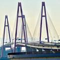 金城ふ頭駐車場から見た名港トリトン「名港西大橋」 - 2
