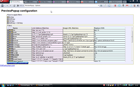 Operaエクステンション:PreviewPopup(設定画面)