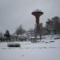 写真: 雪の桃花台中央公園_02