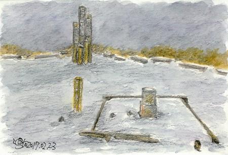 20170223男三瓶山頂(雪)