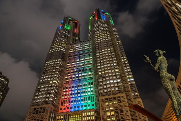 都庁 パラリンピックライトアップ