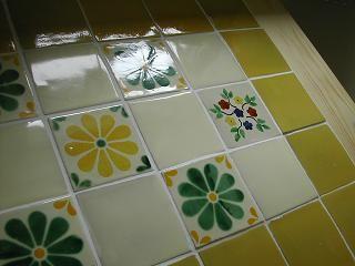 ダイニングテーブル メキシコタイル 4人用