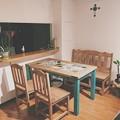 Photos: メキシコタイル付きダイニングテーブル