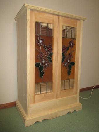 ステンドグラス 桜(透明)ミニ仏壇