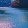 水殿ダム湖の輝き