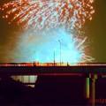 Photos: 橋上桟敷の人々.......
