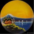 """絵皿 """"富士山"""""""
