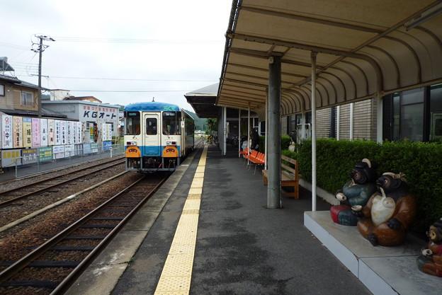 信楽駅にて