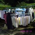 洗濯物多量