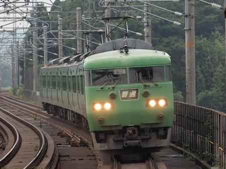 117系末茶色普通 湖西線志賀駅